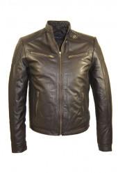 Leren jas heren zwart M011