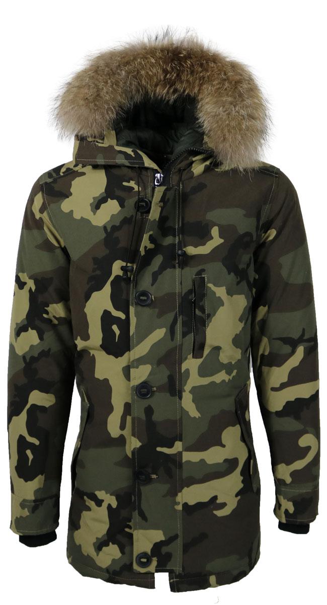 Legergroene Winterjas Heren.Aanbieding Camouflage Winterjas Heren Legergroen Huismerk Met Korting