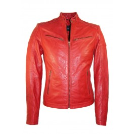 Leather Palace heren leren jas rood