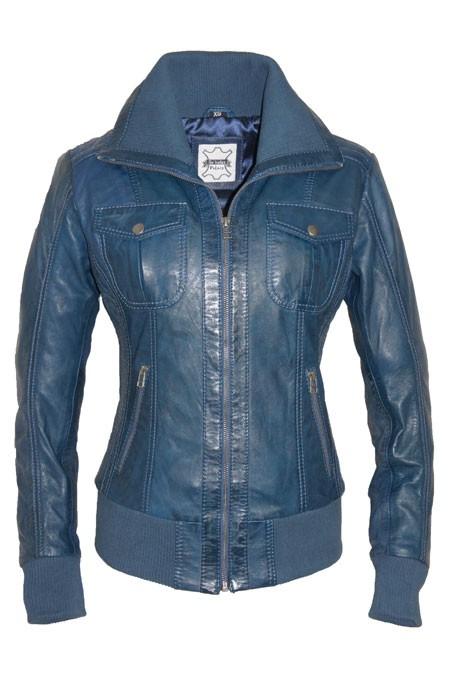 Leren Dames Jas Blauw.Leather Palace Dames Jassen