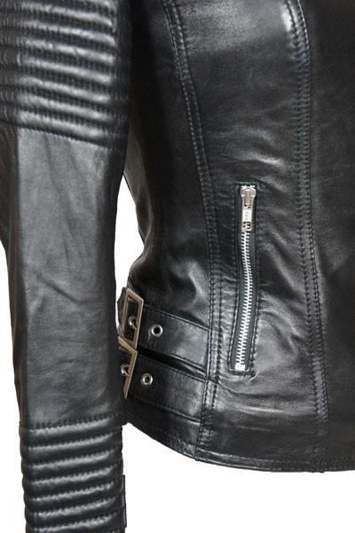 Leren Jas Biker Dames.Leather Palace Blauwe Leren Jas