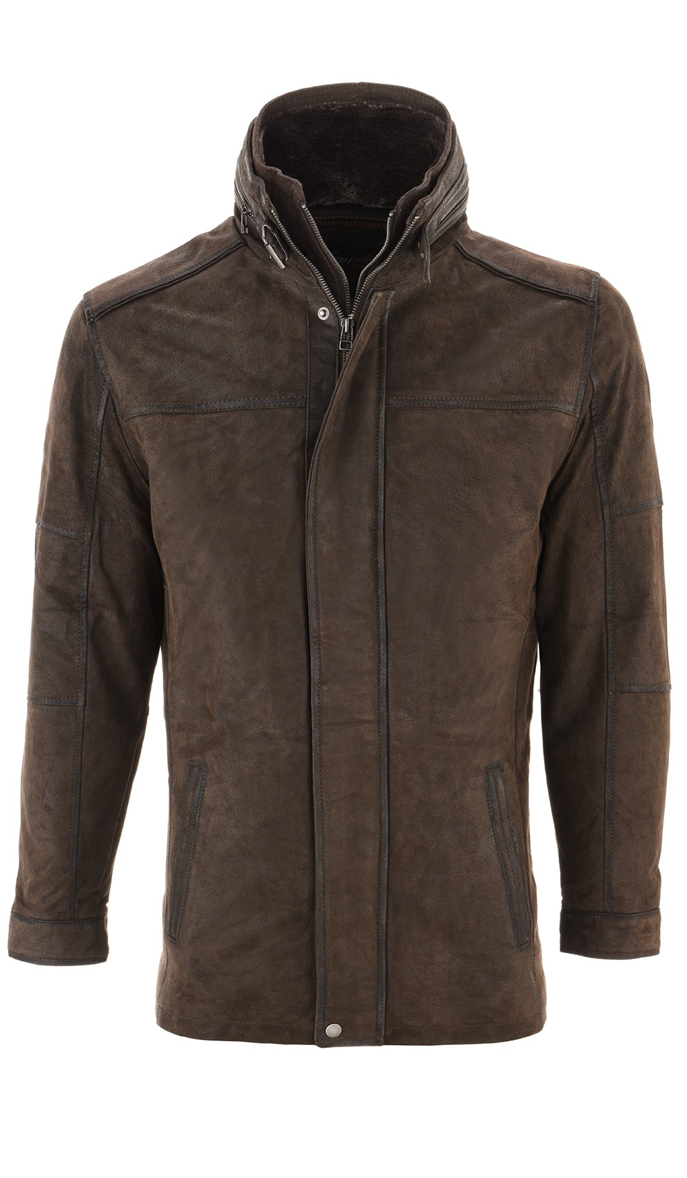 Leather Palace leren parka heren