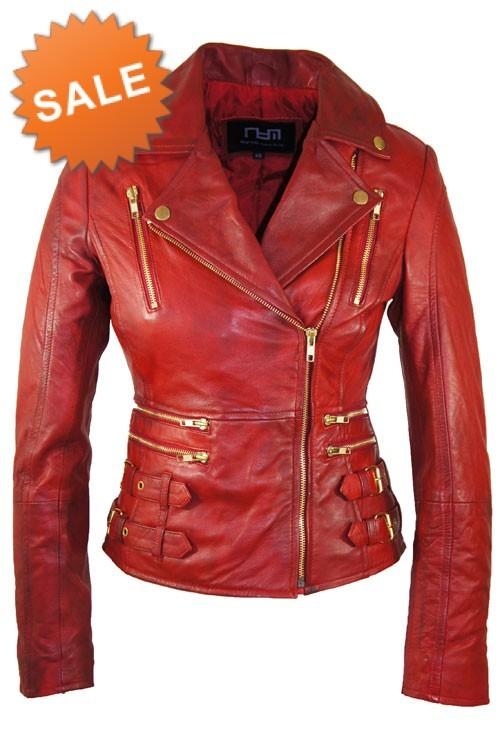 Rode Leren Dames Jas.Leather Palace Rode Leren Jas Dames