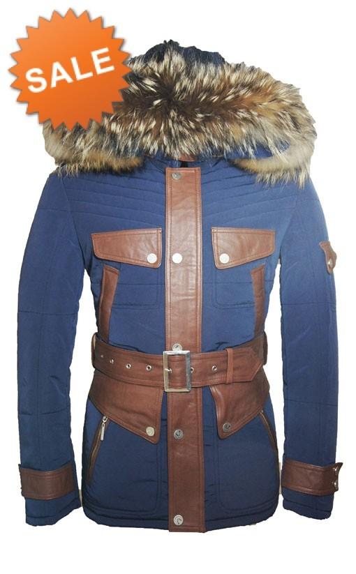 Winterjas Heren Stoer.Leather Palace Winterjas Heren