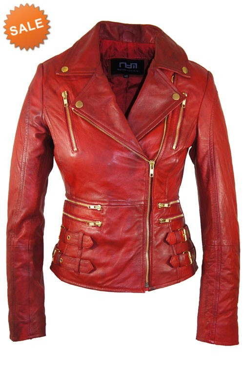 Palace Jas Leren Dames Rode Leather BwYqdB