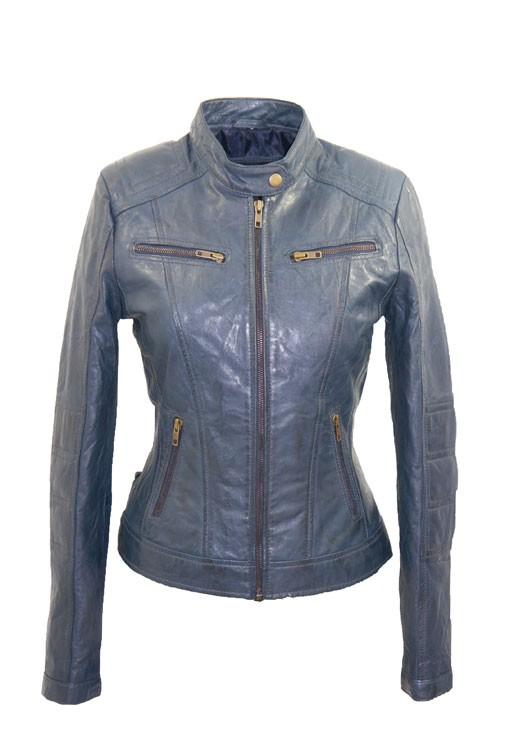 Goede Leather Palace blauwe leren jas dames IE-34