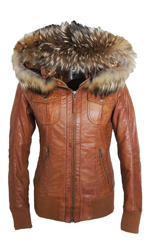 Leren Jas Dames Capuchon.Leather Palace Dames Jassen