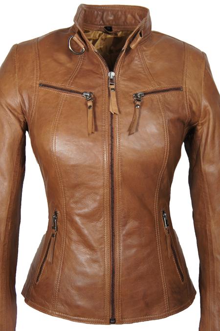 Leather Palace leren jas dames bruin