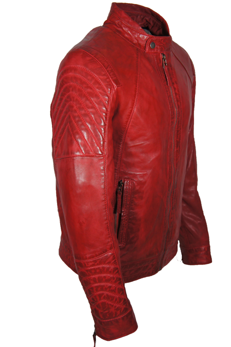 rode leren jas