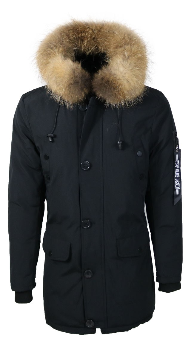 Winterjas Parka Heren.Leather Palace Winterjassen