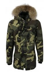 Camouflage winterjas Heren
