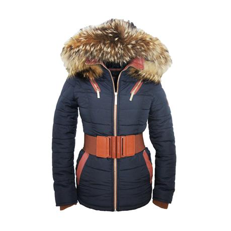 winter jas met bontkraag