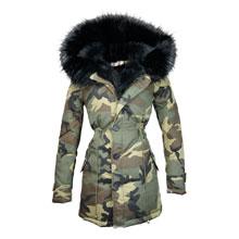 Camouflage jas Zwart