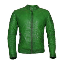 groene leren jas heren